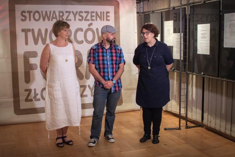 Otwarcie wystawy Amber Design Meeting: Małgorzata Podleśna-Zdunek, Marcin Tymiński, Katarzyna Kwiatkowska.